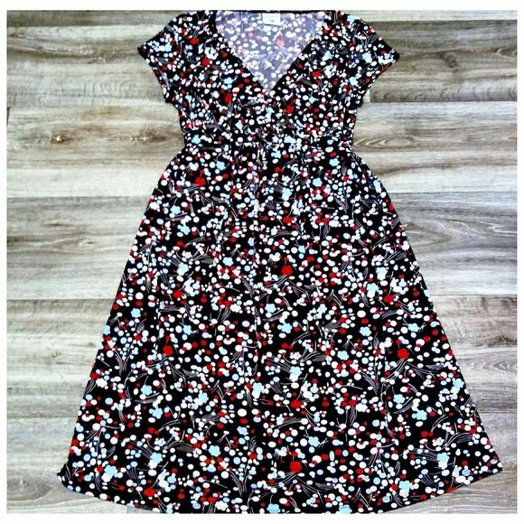 Motherhood Maternity Dresses & Skirts - Motherhood Maternity Brown Patterned Dress